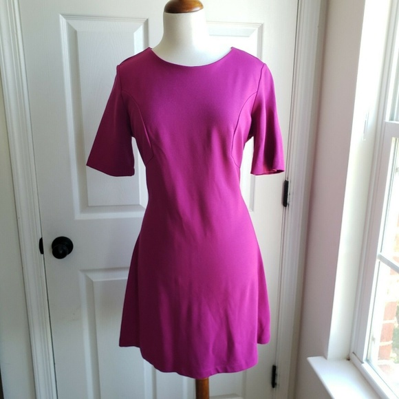 French Connection Dresses & Skirts - New French Connection Pink Ponte Knit A Line Dress